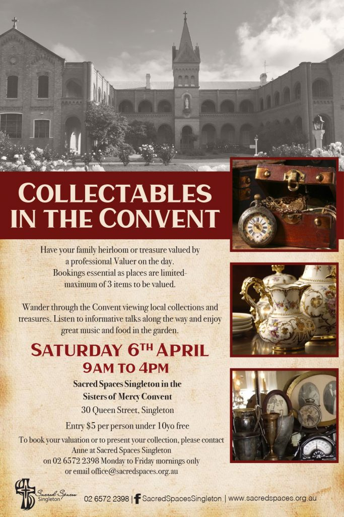 Collectables in the Convent at Sacred Spaces Singleton on 6 April 2019