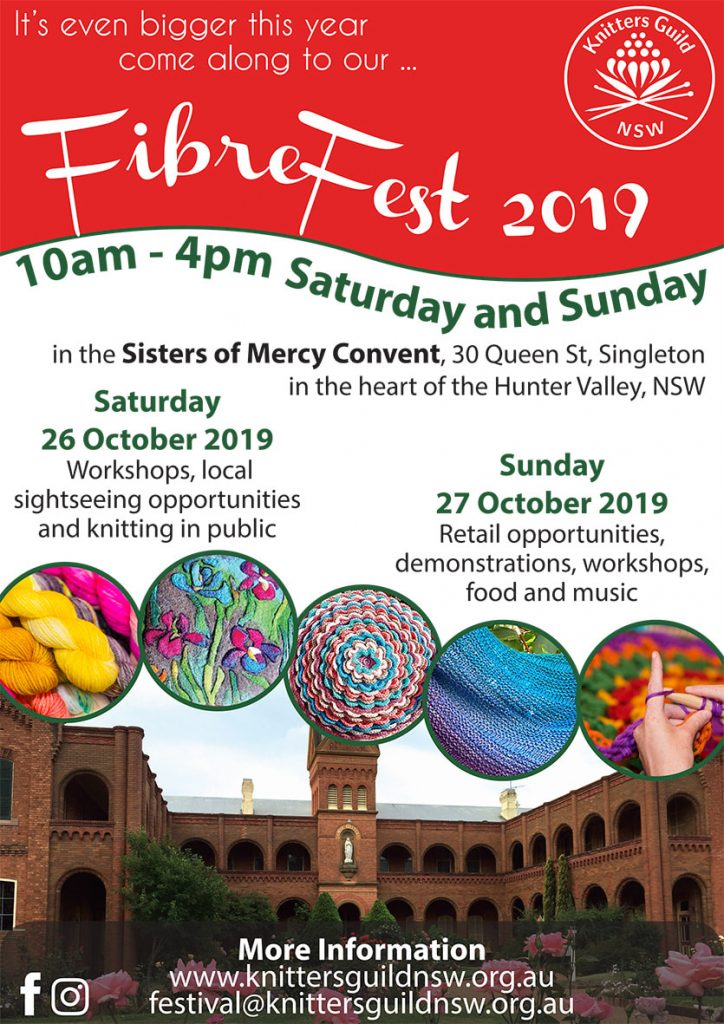 FibreFest at Sacred Spaces Singleton 26 and 27 Oct 2019